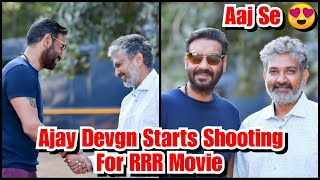 Ajay Devgn Starts Shooting For RRR Movie