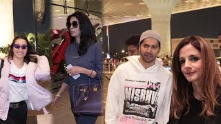 Varun Dhawan, Shraddha Kapoor Off To Street Dancer 3d Promotions & Sussanne Khan, Mallika Spotted