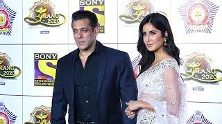 Salman Khan Looks Uncomfortable With Katrina Kaif At Umang Show 2020