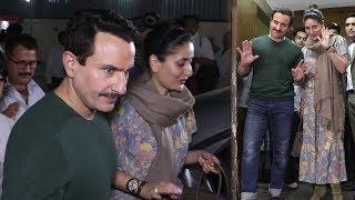 Lovely Couple Saif Ali Khan, Kareena Kapoor, Mobbed By Fans At PVR Juhu