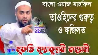 বাংলা ওয়াজ মাহফিল । তাওহিদের গুরুত্ব ও ফজিলত । New Bangla Waz Mahfil Mufty Mostakun Nobi