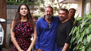 Sanjay Dutt And Sara Ali Khan Spotted At Anand L Rai Office ANDHERI