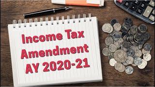 Income Tax Amendment for May 2020 & June 2020 Exam | CA Raj K Agrawal