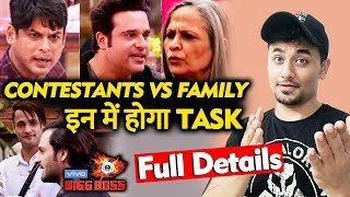 Bigg Boss 13 | Family Vs Contestants TASK | FULL DETAILS | Wild Card Entry | BB 13 Video