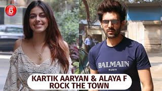 Kartik Aaryan & Alaya F Take The Town By Storm With Their Super Hot Poses For The Shutterbugs