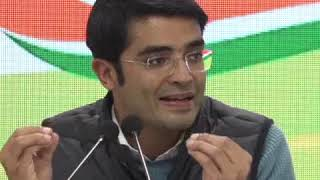 Jaiveer Shergill addresses media at Congress HQ on Bank Frauds