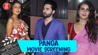 Fatima Sana Shaikh, Neha Kakkar & Tony Kakkar at Special Screening of Panga
