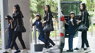Super Cute Aaradhya Bachchan ???? Spotted After School With Mom Aishwarya Rai