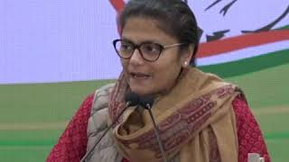 Sushmita Dev addresses media at Congress HQ on Kailash Vijayvargiya Statement