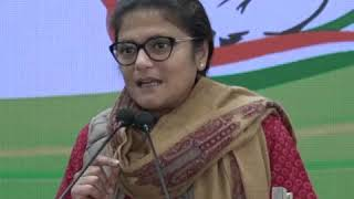 Sushmita Dev addresses media at Congress HQ on BJP leader Kailash Vijayvargiya statement