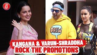 Kangana Ranaut & Varun Dhawan-Shraddha Kapoor Rock The Promotions | Panga | Street Dancer