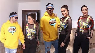 Varun Dhawan, Shraddha Kapoor Spotted At Promotions Of Film Street Dancer 3d