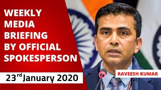 Weekly Media Briefing by Official Spokesperson (January 23, 2020)