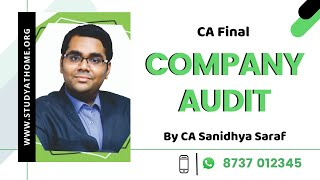 Company Audit for May 2020 and Onwards | Fast Track class by CA Sanidhya Saraf