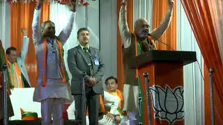 Shri Amit Shah addresses Public meeting at JJ Colony, Badli New Delhi