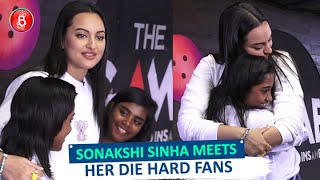 Sonakshi Sinha Meets Her Die-Hard Fans through Anshula Kapoor's Fundrasing Initiative Fankind