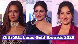 Shraddha Arya, Ashnoor Kaur & Kriti Kharbanda At 26th SOL Lions Gold Awards 2020