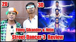 Street Dancer 2D And 3D Review By Filmy Sikander And Nitin Bhai