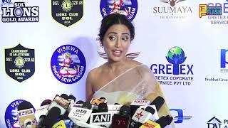 Hina Khan Full Exclusive Interview - 26th SOL Lions Gold Awards 2020