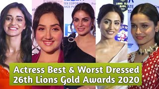 Actress Best And Worst Dressed At 26th SOL Lions Gold Awards 2020