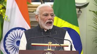 PM Modi's statement at the Joint Press Meet with Brazil's President Bolsonaro in New Delhi | PMO