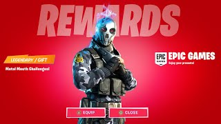 CLAIM FORTNITE FREE REWARD (METAL MOUTH) SKIN CHALLENGES