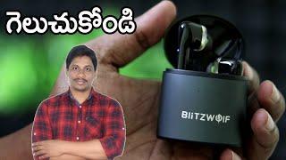 BlitzWolf® BW FYE8 TWS bluetooth Dual Dynamic Driver Touch Control  Unboxing telugu