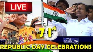 LIVE   Governor Smt Tamilisai Soundararajan & CM Sri KCR Participating in Republic Day Celebrations