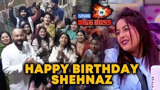 Bigg Boss 13 | Shehnaz Gill's Family Celebrates Shehnaz's Birthday In A Grand Way | BB 13 video