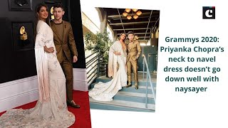Grammys 2020: Priyanka Chopra's neck to navel dress doesn't go down well with naysayer