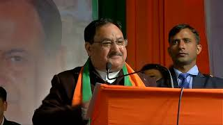 Shri JP Nadda addresses public meeting in Moti Nagar, Delhi