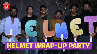 Aparshakti Khurana, Dino Morea, Abhishek Banerjee Celebrate The Wrap-Up Of Helmet
