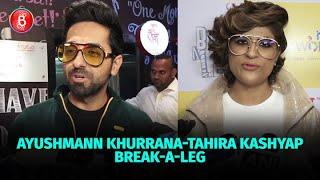 Ayushmann Khurrana & Tahira Kashyap Break-A-Leg With Shakti Mohan