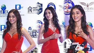 Ananya Panday Looking Very B0LD & Hot At Red Carpet Of Lions Gold Awards