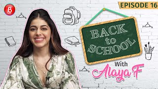 Alaya F's Most Embarrassing Fall In Front Of Her Childhood Crush | Back To School | Jawaani Jaaneman