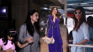Spotted : Janhvi Kapoor, Diana Penty & Aishwarya Rai With Daughter Aaradhya