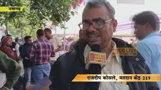 नवागढ़ में भारी अव्यवस्था के बीच मतदान सामाग्री का वितरण cglivenews