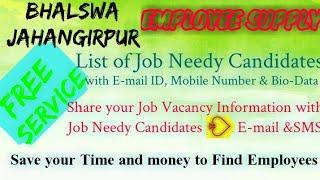 BHALSWA JAHANGIR NAGAR    EMPLOYEE SUPPLY   ! Post your Job Vacancy ! Recruitment Advertisement ! Jo