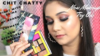 New Affordable Makeup Tryon + Let's Talk - Fight with Saima?? , Cuemath , My Brand | Nidhi Katiyar