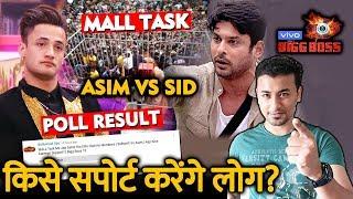 Bigg Boss 13 | MALL TASK Asim Vs Sidharth | POLL RESULT | BB 13 Latest Video