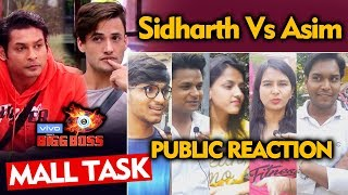 Bigg Boss 13 MALL TASK | Asim Vs Sidharth | Public Reaction | BB 13 Video