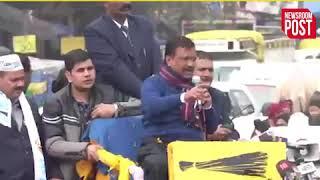 दिल्ली के गोकुलपुरी में CM केजरीवाल का रोडशो 'भाजपा के 200 सांसद आपके बेटे को हराने आए हैं'