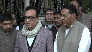 Delhi Assembly Election 2020 | Subhash Chopra and Ajay Maken addresses media after meeting with EC