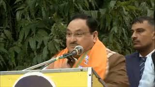BJP National President JP Nadda addresses public meeting at Subhash Nagar, Hari Nagar, New Delhi