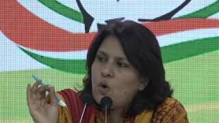 Supriya Shrinate addresses media at Congress HQ on The State of Indian Economy