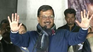दिल्ली कैंट में अरविन्द केजरीवाल की जनसभा। इस बार वोट सिर्फ काम पर पड़ेगा।