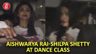 Aishwarya Rai & Shilpa Shetty Spotted At Their Kid's Dance Classes