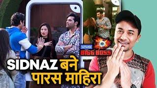 Bigg Boss 13 | Paras And Mahira MIMICS SidNaz In Task | Sidharth | Shehnaz | BB 13 Video