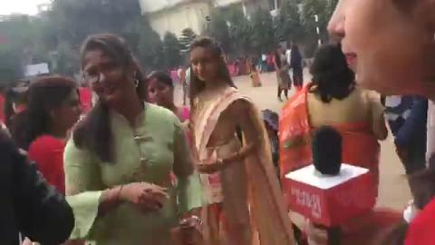 जोरों शोरों से मनाया जा रहा है सरस्वती पूजा H.B Vidhyapith में।