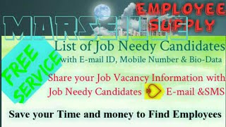 MARSEILLE      Employee SUPPLY ☆ Post your Job Vacancy 》Recruitment Advertisement ◇ Job Information